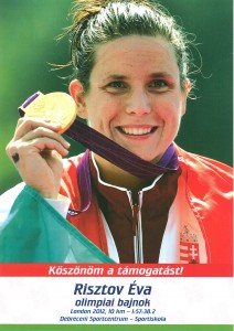 Éva Risztov olimpic champion, London 2012, swimming 10km